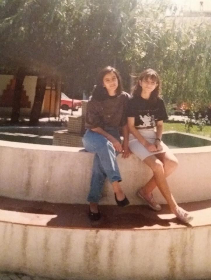 com minha irmã em Mação