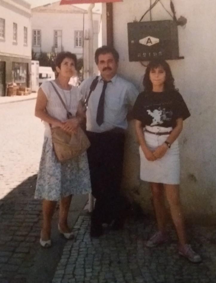 Meus pais e eu em Mação